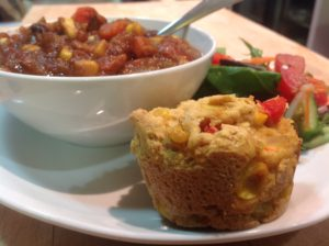 Veggie Chili & Cornbread_2