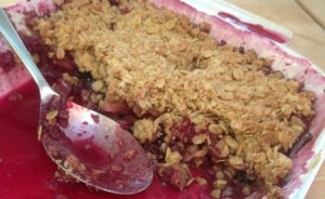 Strawberry-Blueberry-Rhubarb Crisp