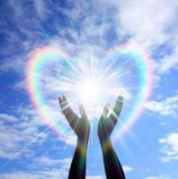 rainbow heart with hands