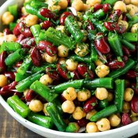 marinated bean salad