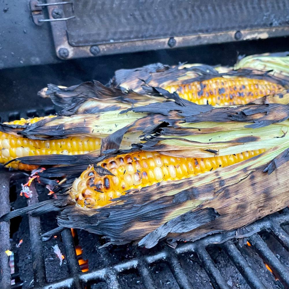corn grilling on bbq